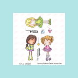 C.C. Designs Spring Pinkies Clear Stamp