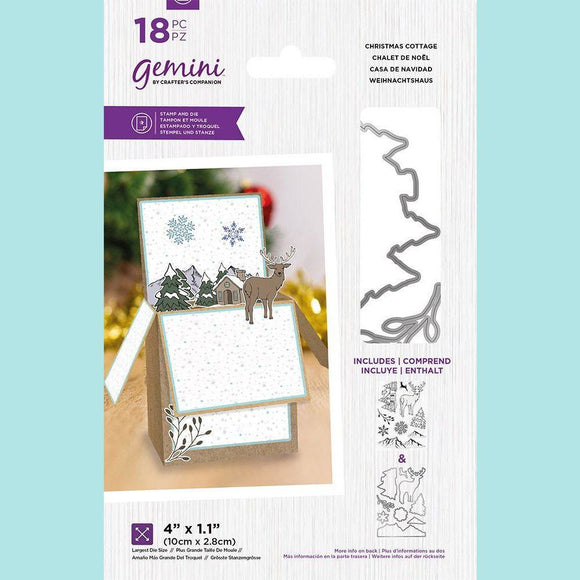 Crafter's Companion - Gemini Pop Up Box Stamp & Die - Christmas Cottage