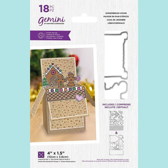 Crafter's Companion - Gemini Pop Up Box Stamp & Die - Gingerbread House