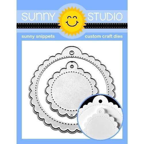 Sunny Studio Stamps - Scalloped Tag Circle Die