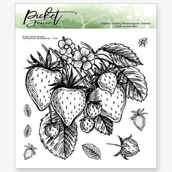 Picket Fence Studios - Ponchatoula Strawberries Stamp