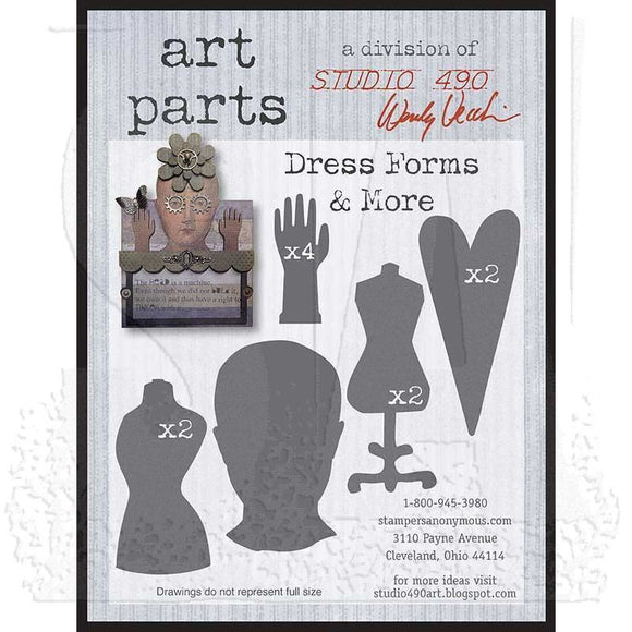 Stampers Anonymous - Studio 490 - Wendy Vecchi - Art Parts - Dress Forms & More