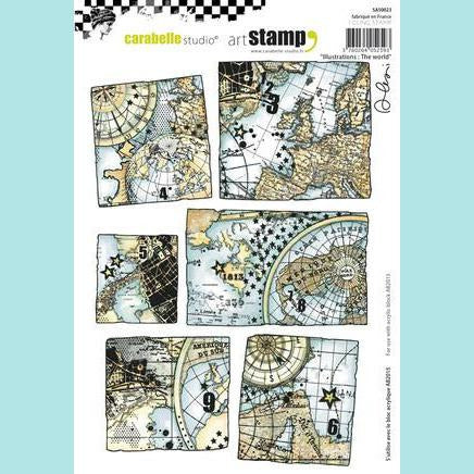Carabelle Studio - Cling Stamp A5 : Illustrations : The world