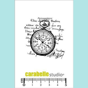 Carabelle Studio - Cling Stamp Small: Collage Montre Gousset
