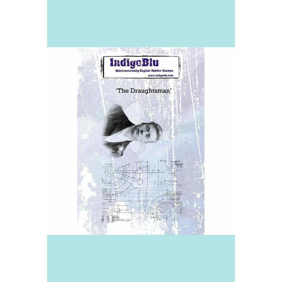 IndigoBlu The Draughtsman A6 Red Rubber Stamp by Kay Halliwell-Sutton