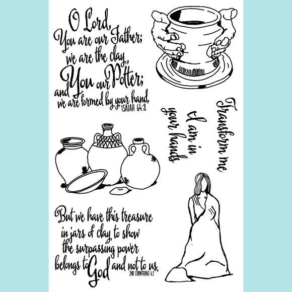 Joy Clair The Potter | Bible Journaling Stamp Set