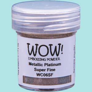 WOW! Embossing Powder - WC06 Metallic Platinum Super Fine
