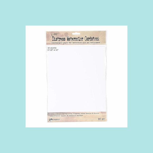 Tim Holtz - Distress Watercolor Cardstock - 10 Pack 8.5 Inch X 11 Inch