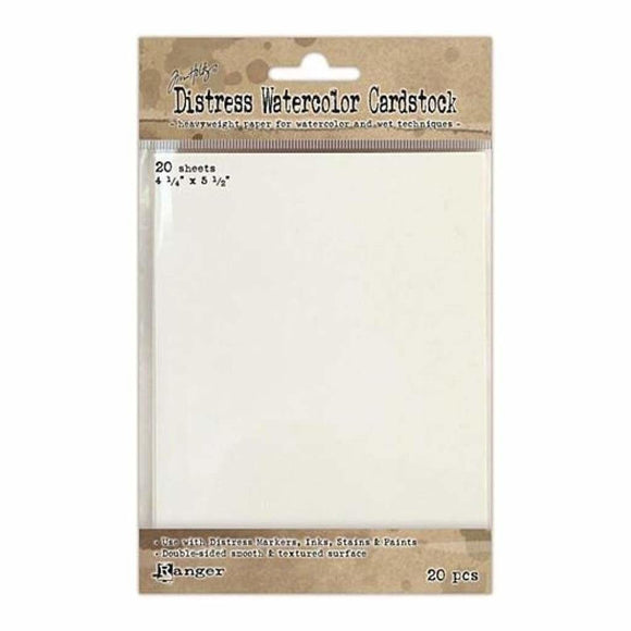 Tim Holtz - Distress Watercolor Cardstock - 20 Pack 4.25 Inch X5.5 Inch