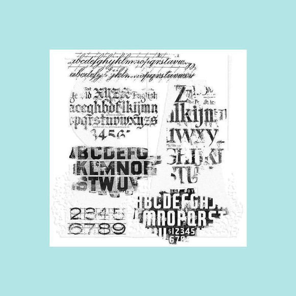 Tim Holtz - Tim Holtz Cling Mount Stamps - Faded Type