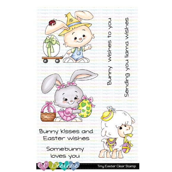 C.C. Designs - Tiny Easter Clear Stamp Set