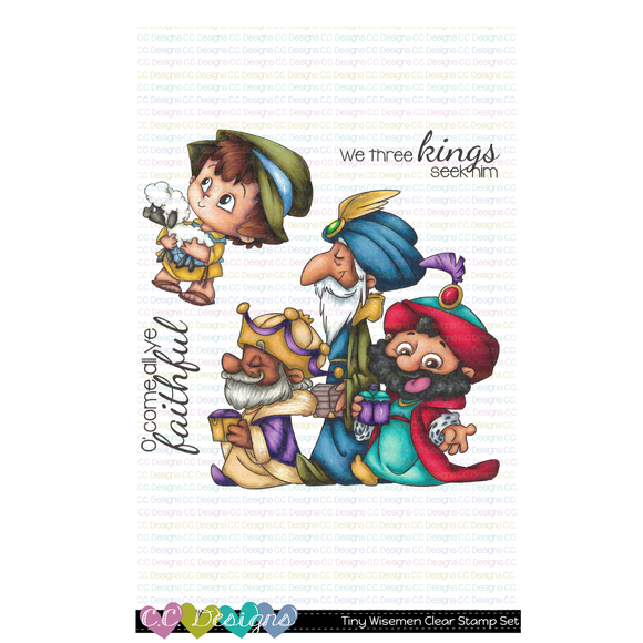 C.C. Designs - Tiny Wisemen Clear Stamp Set