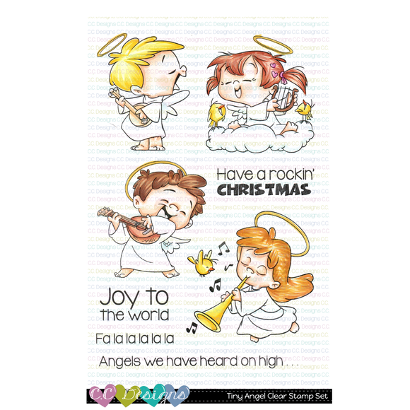C.C. Designs - Tiny Angels Clear Stamp Set