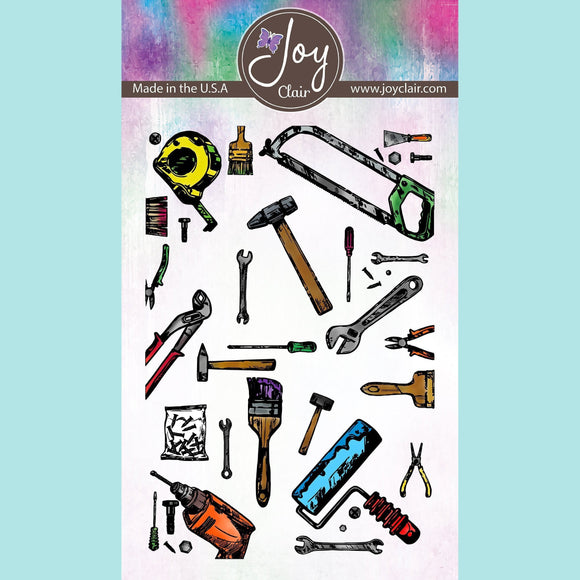 Joy Clair - Tool Background Clear Stamps