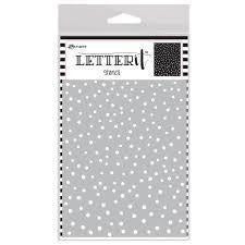 Ranger - Letter It Background Stencil Dancing Dots