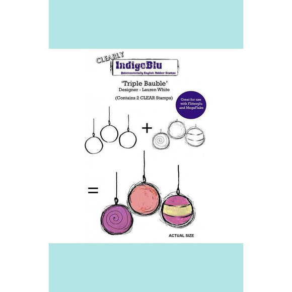 IndigoBlu Triple Bauble (2 clear stamps) A6 by Lauren White - Clear