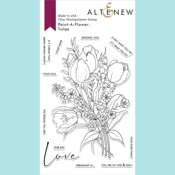 Altenew - Paint-A-Flower: Tulips Outline Stamp Set