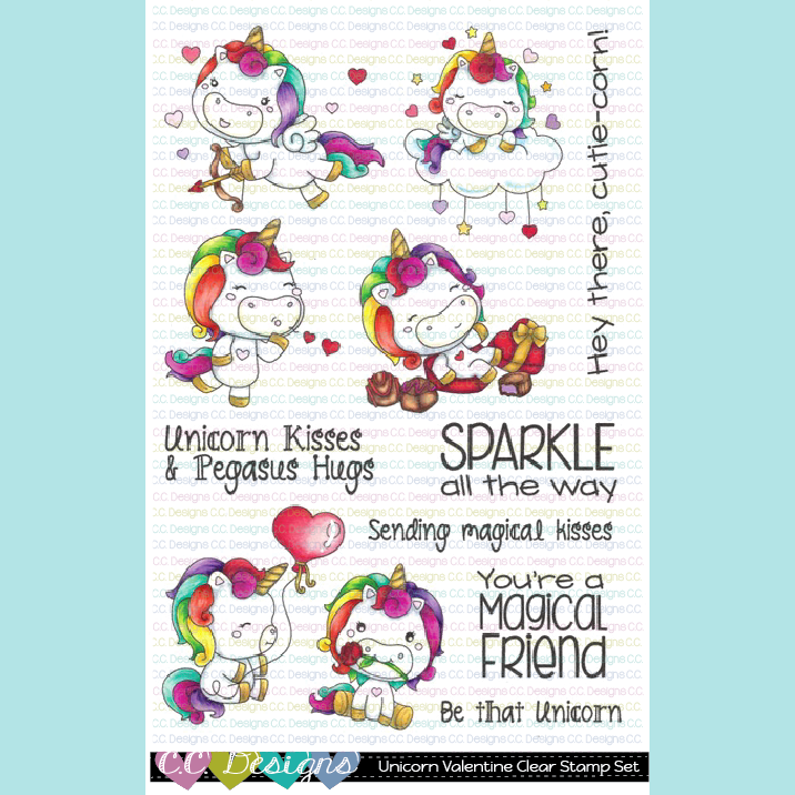 C.C. Designs - New Unicorn Friends Clear Stamp Set
