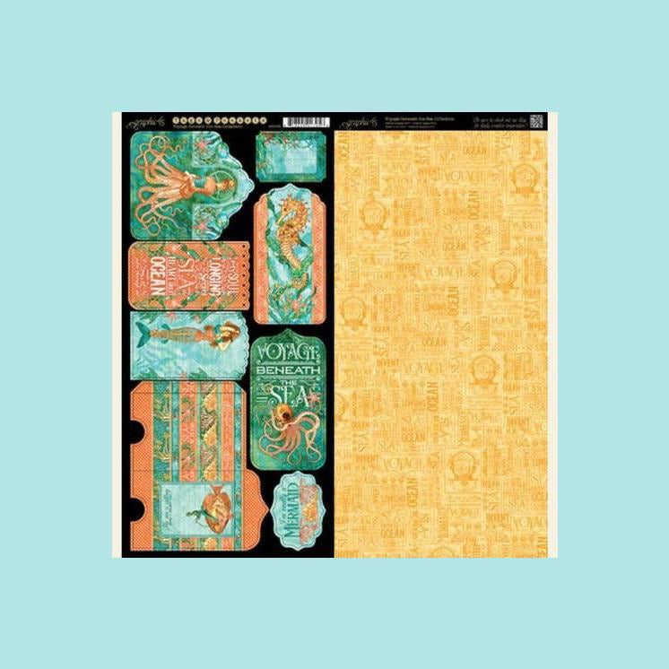 Light Goldenrod Graphic 45 - Voyage Beneath the Sea Collection
