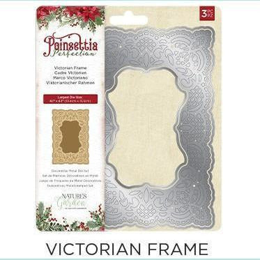 Crafter's Companion - Poinsettia Perfection - Metal Dies - Victorian Frame