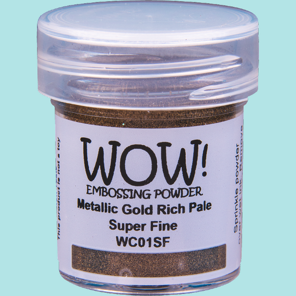 WOW! Embossing Powder - WC01 Metallic Gold Rich Pale Super Fine