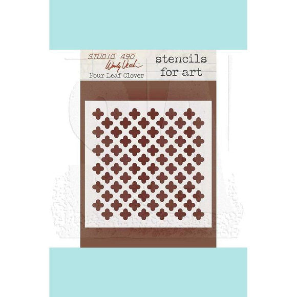 Studio 490 Wendy Vecchi Stencils for Art: Four Leaf Clover