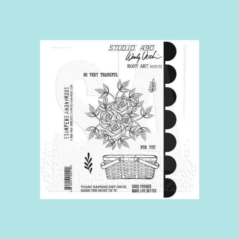 Studio 490 Cling Stamps 7x8.5-Flowers For Art