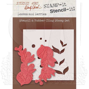 Stampers Anonymous - Wendy Vecchi STAMP-it Stencil-it: Leaves and Berries