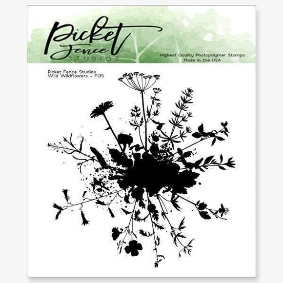 Picket Fence Studios - Wild Wildflowers Stamp