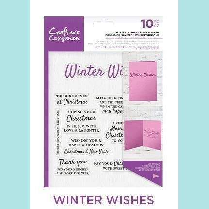 Crafter's Companion - Verse & Front Sentiments Stamp - Winter Wishes