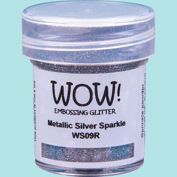 WOW! Embossing Glitter - WS09 Metallic Silver Sparkle