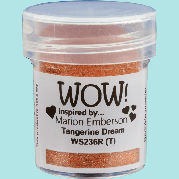 WOW! Embossing Glitter - WS236R Tangerine Dream
