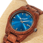 Men's Engraved Kosso Wood Watch