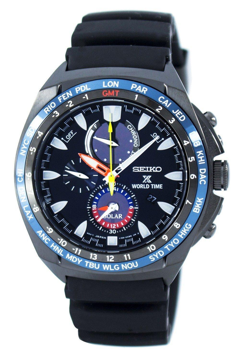 Seiko Prospex World Time Solar Chronograph Ssc551 Ssc551p1 Ssc551p Men's Watch