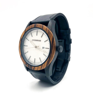 Inverness Walnut Watch - Leather Band