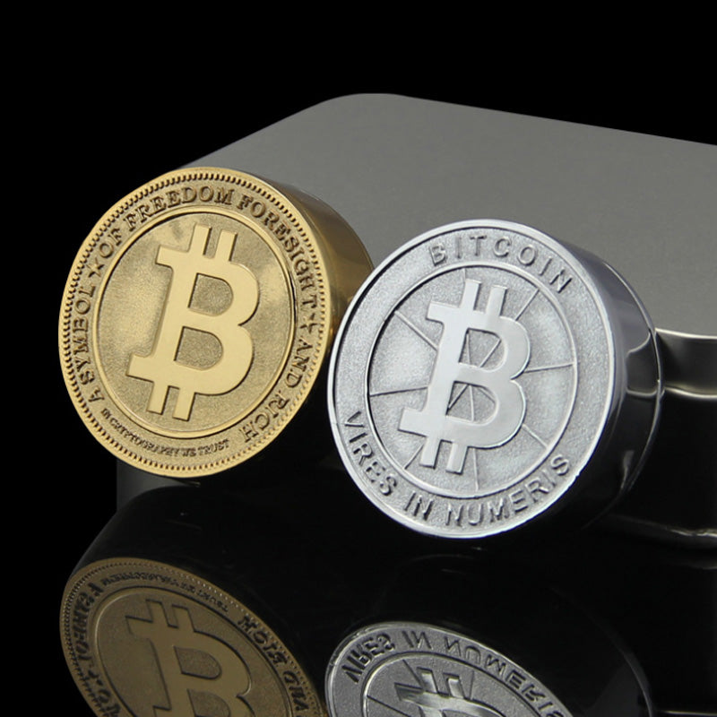 Bitcoin Electronic USB Metal Lighter