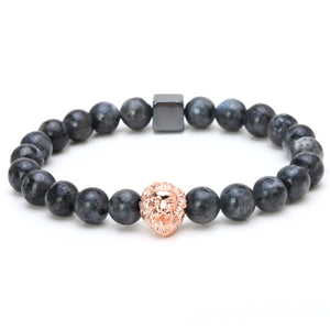 Mcllroy Men bracelet Flash stone Lion bracelets
