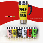 500ml Coffee Cup Self Stirring Stainless Steel Thermal Cup
