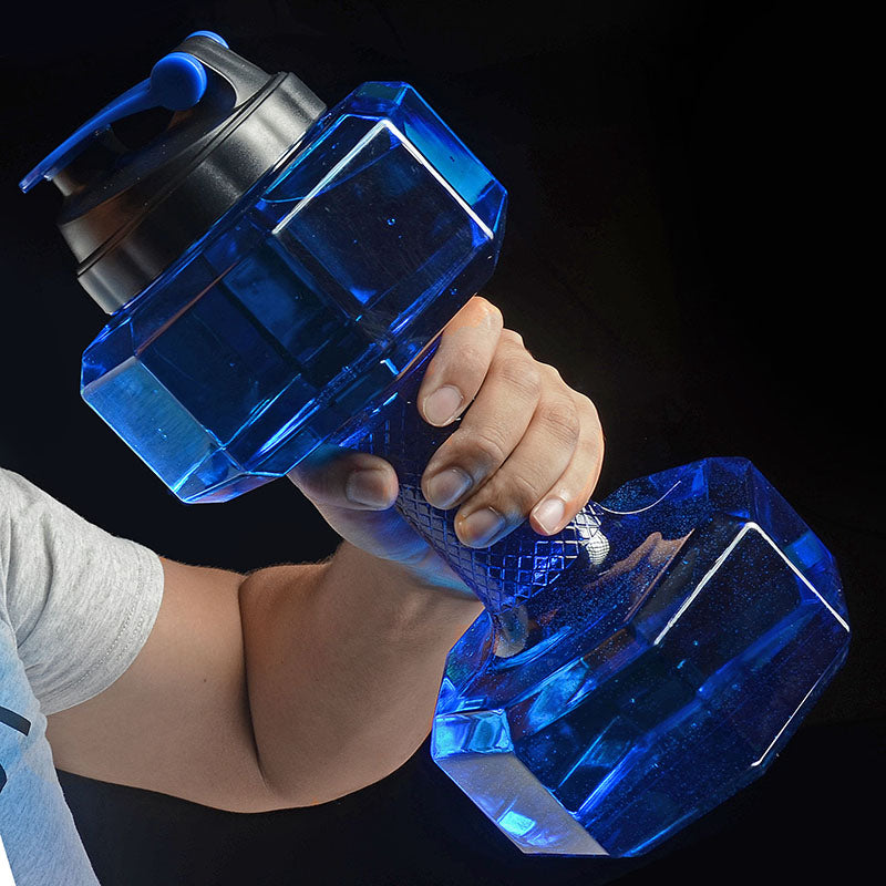 2.2L Plastic Dumbbell Water Bottle