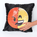 Sequin Emoji Cushion Cover Pillow Cases