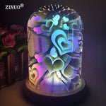 3D Illusion Night Light Oval Shaped LED Table Lamp