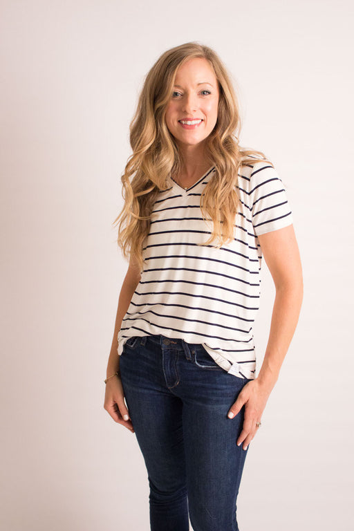 Candy Stripe V-Neck