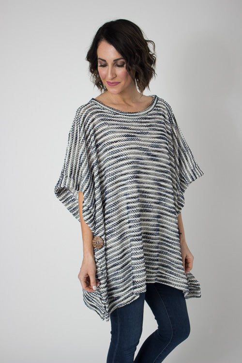 Sailor Blue Basic Poncho