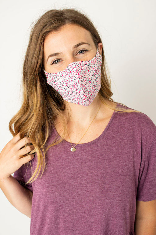 Dainty Flower Fabric Mask
