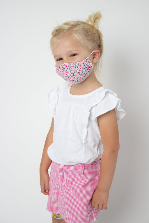 Dainty Flower Fabric Mask - Child S