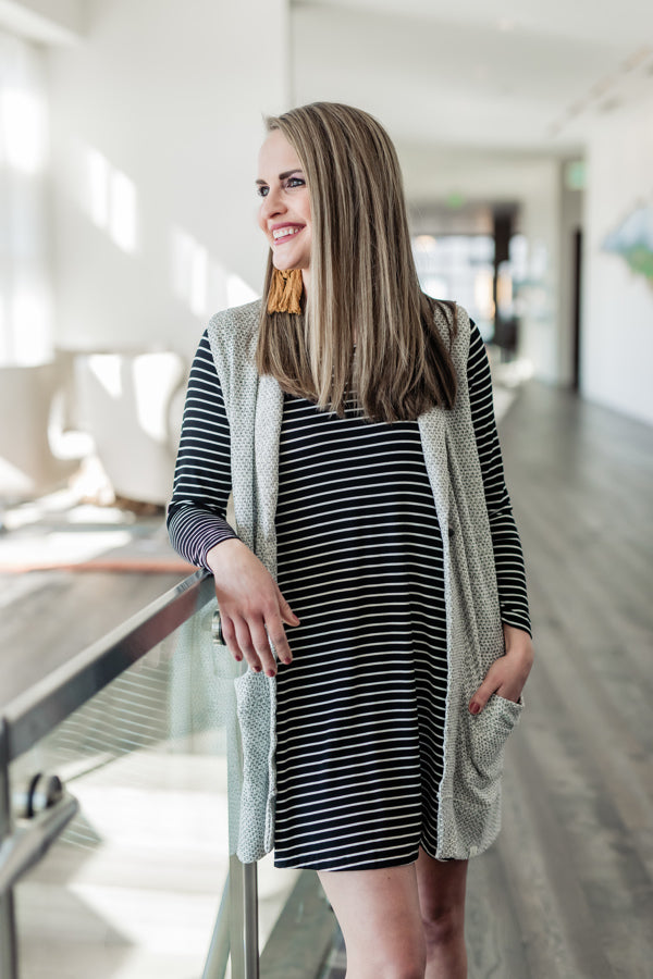 Meridian Long Sleeve Swing Dress