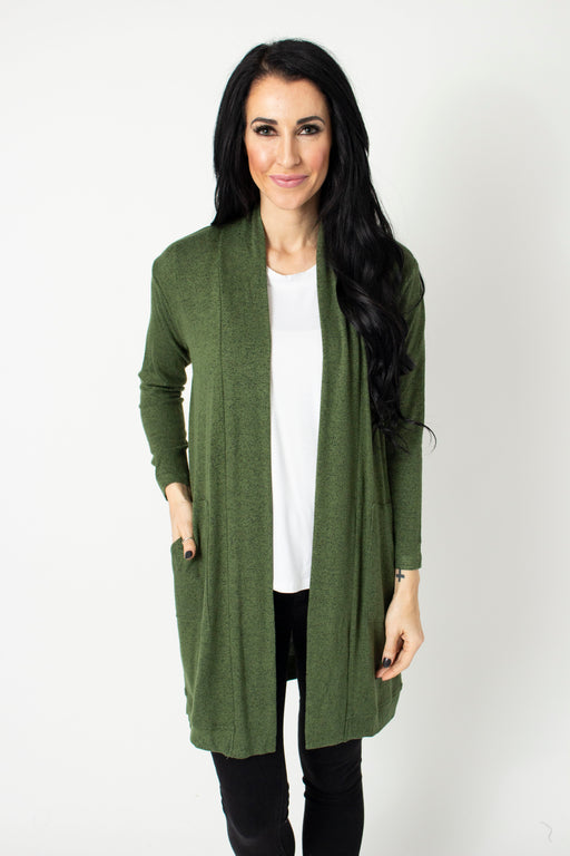 Evergreen Open Cardi