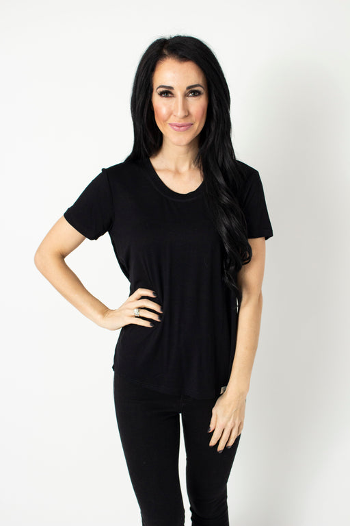 Black Scoop Tee