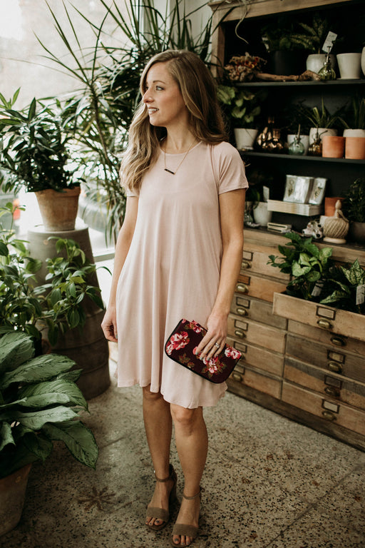 PINK PEONY SWING DRESS