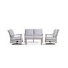 Yardbird Eden Outdoor Loveseat Set with Swivel Chairs Outdoor Furniture